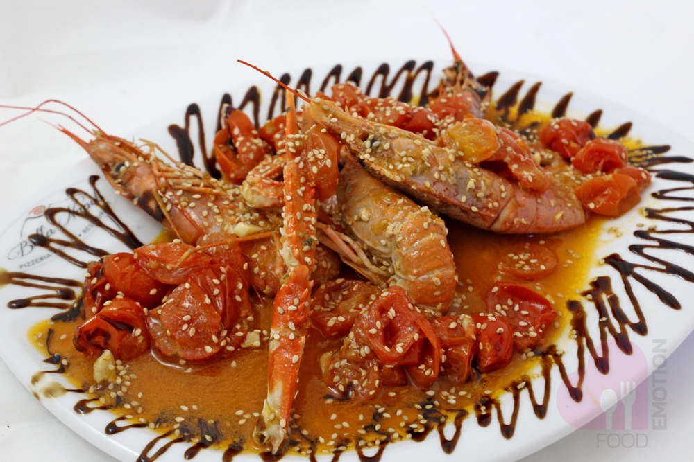 Deviled prawns (roasted with chili pepper)