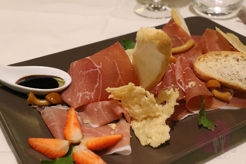 Selected cured ham from Zibello
