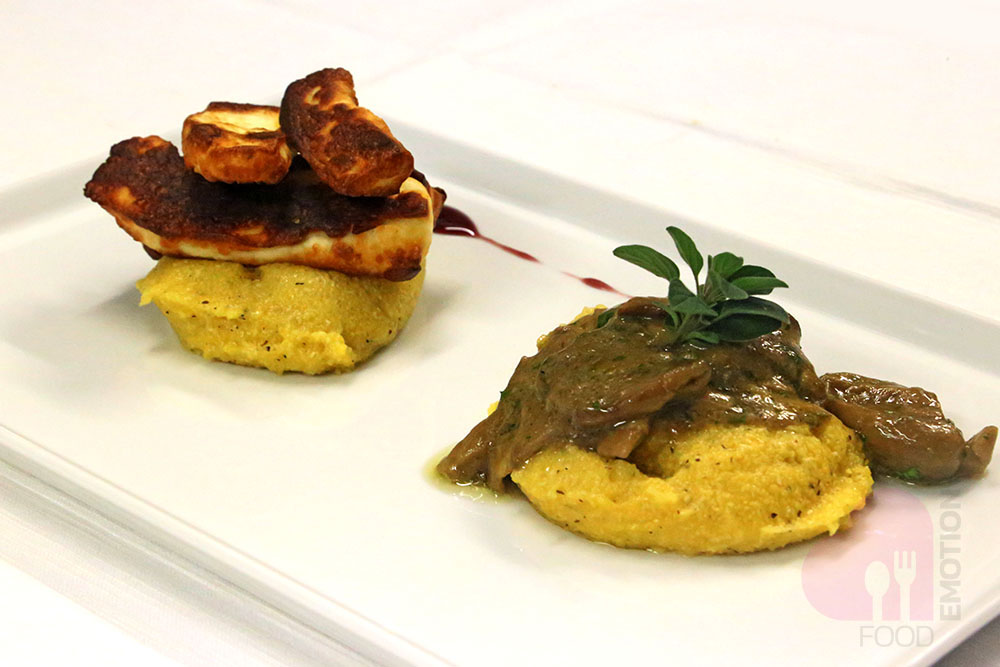 Porcini mushrooms cooked with garlic, oil and parsley and served with grilled Bèese de Brans